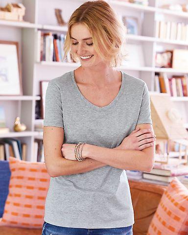 Hanes 42V0 X-Temp Women's V-Neck T-Shirt