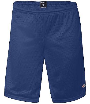 81622 Champion Logo Long Mesh Shorts with Pockets Athletic Royal