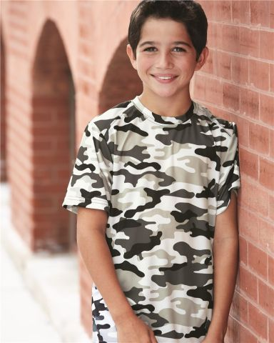 2181 Badger - Youth Camo Short Sleeve T-Shirt