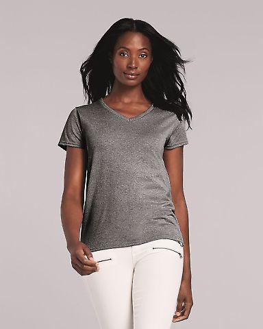 5V00L Gildan Heavy Cotton™ Ladies' V-Neck T-Shirt