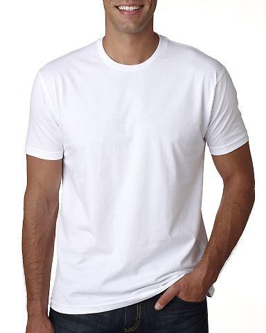 Next Level Apparel 3600A Men's Made in USA Cotton Crew WHITE