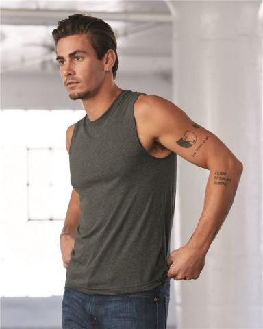 BELLA+CANVAS 3483 Mens Jersey Muscle Tank