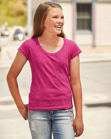 8129 J. America - Youth Glitter T-Shirt