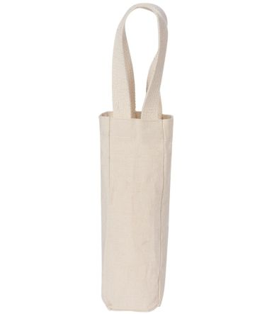 1725 Liberty Bags - Single Bottle Wine Tote NATURAL