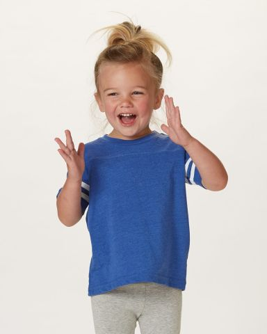 3037 Rabbit Skins Toddler Fine Jersey Football Tee