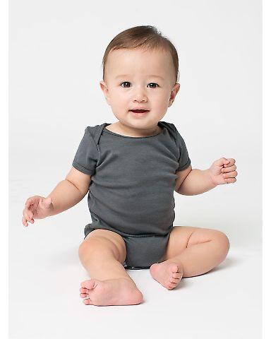 4001 American Apparel Infant Baby Rib Short Sleeve One Piece Asphalt(Discontinued)