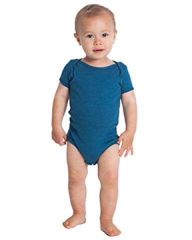 American Apparel 4001ORW Infant Organic Baby Rib Short-Sleeve One-Piece Galaxy