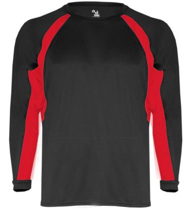 2154 Badger Youth Performance Long-Sleeve Hook Athletic Tee