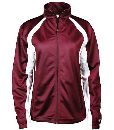 7902 Badger Ladies' Hook Brushed Tricot Polyester Full Zip Jacket