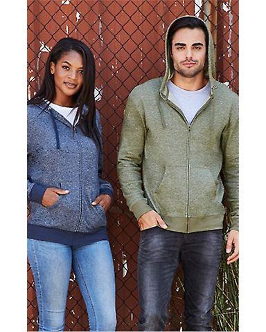 9600 Next Level Adult Denim Fleece Full-Zip Hoodie
