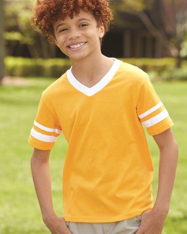 Augusta Sportswear 361 Youth V-Neck Football Tee