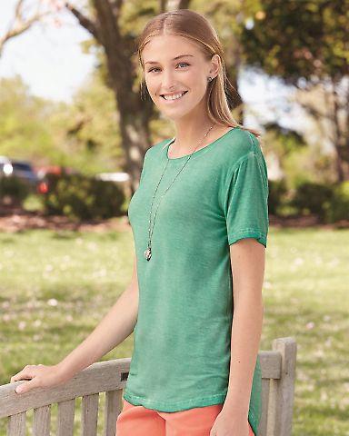 J America 8127 Women's Oasis Wash Drop Tail T-Shirt