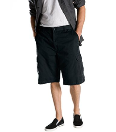 Dickies Workwear 43214 8.5 oz., 13 Loose Fit Cargo Short BLACK _30