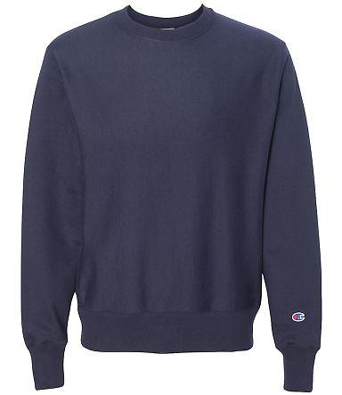 S1049 Champion Logo Reverse Weave Pullover Team Navy
