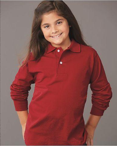 Jerzees 437YLR SpotShield Youth Long Sleeve Sport Shirt