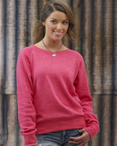 J America 8873 Ladies Tri-Blend Fleece Crew