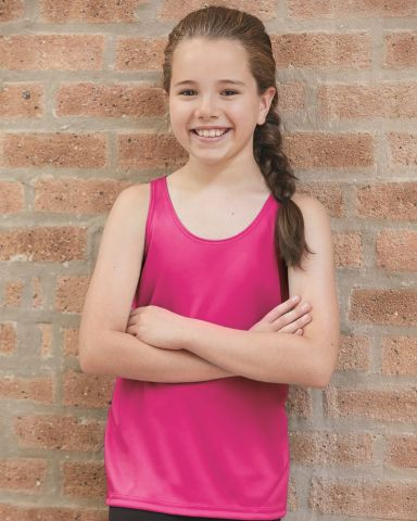 Badger Sportswear 2166 B-Core Girls' Racerback Tank Top