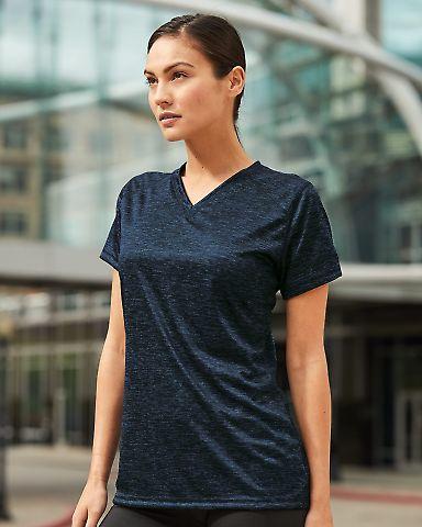 Badger Sportswear 4175 Tonal Blend Women's V-Neck Tee