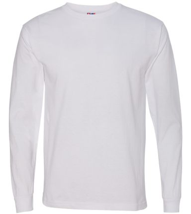 5060 Bayside Adult Long-Sleeve Cotton Tee White