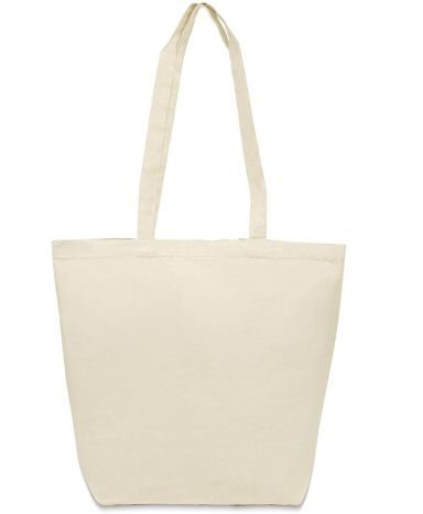 8866 UltraClub® Cotton Canvas Jumbo Tote with Gusset
