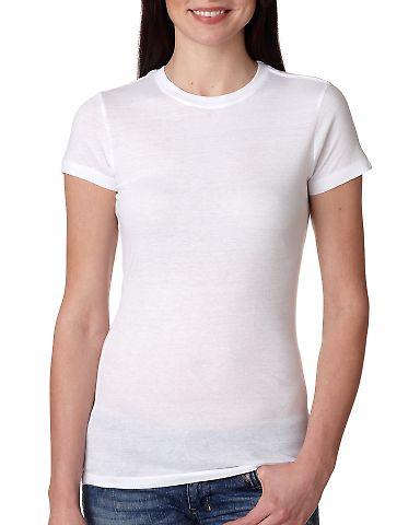 4990 Bayside Ladies' Fashion Jersey Tee White