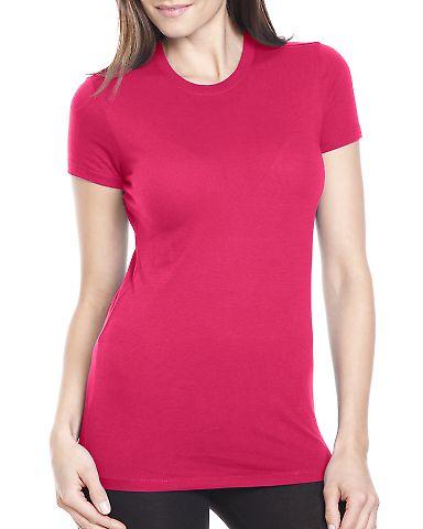 4990 Bayside Ladies' Fashion Jersey Tee Bright Pink