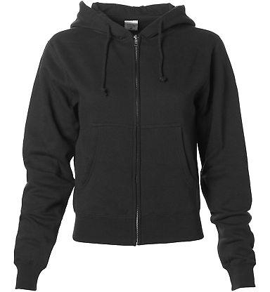 IND008Z - Independent Trading Company Ladies Full Zip Hooded Sweatshirt Black