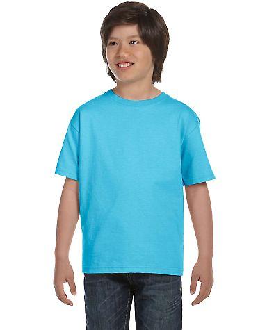 5480 Hanes® Heavyweight Youth T-shirt Light Blue