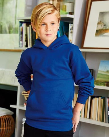 P470 Hanes Youth EcoSmart Pullover Hooded Sweatshirt