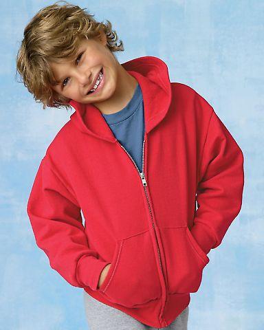 P480 Hanes® PrintPro®XP™ Comfortblend® Youth Hooded Full Zip Sweatshirt