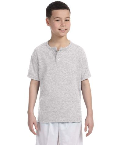 Augusta Sportswear 581 Youth Two-Button Baseball Jersey Ash