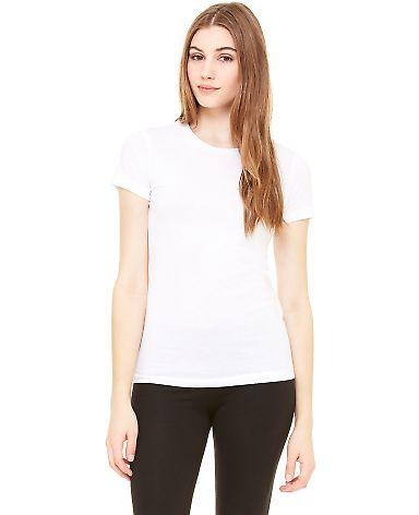 BELLA 6000 Womens Crew Neck T-Shirt WHITE