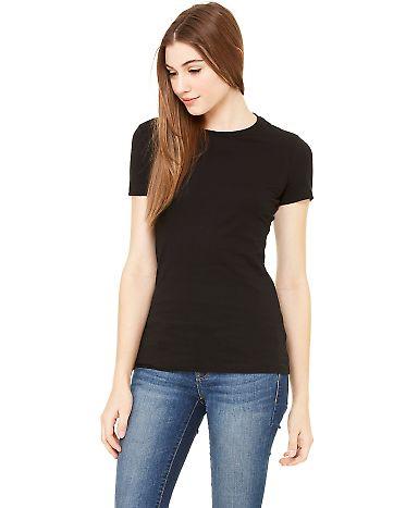 BELLA 6004 Womens Favorite T-Shirt Solid Blk Blend