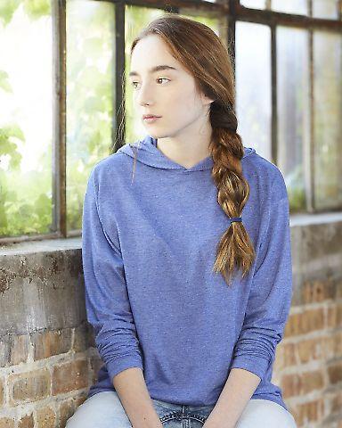 49 987B Youth Long Sleeve Hooded T-Shirt