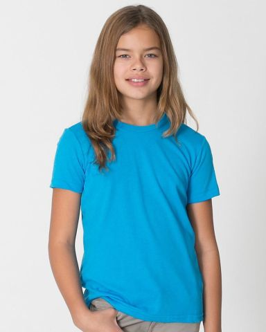 BB201W Youth Poly-Cotton Short-Sleeve Crewneck