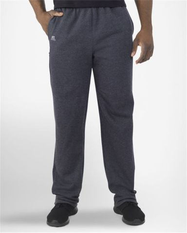 Russel Athletic 82PNSM Cotton Rich Fleece Open Bottom Sweatpants with Pockets