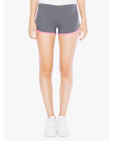 7301W Ladies' Interlock Running Shorts Asphalt/Fuschia