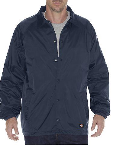 Dickies Workwear 76242 Unisex Snap Front Nylon Jacket DARK NAVY