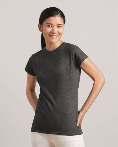 64000L Gildan Ladies 4.5 oz. SoftStyle™ Ringspun T-Shirt