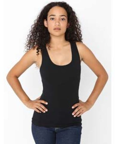 8308 American Apparel Cotton Spandex Tank Top Black (Discontinued)