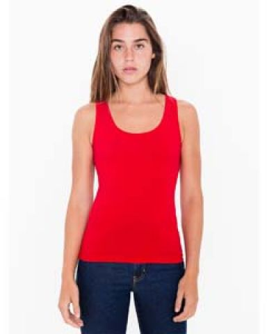 8308 American Apparel Cotton Spandex Tank Top Red (Discontinued)