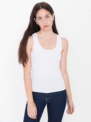 American Apparel 8308W Ladies' Cotton Spandex Tank Top White