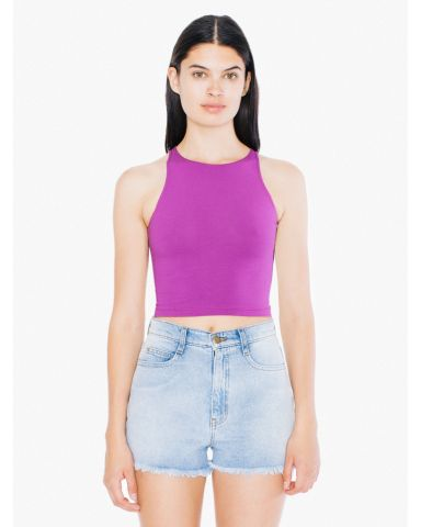 8369 American Apparel Cotton Spandex Sleeveless Crop Top Boysenberry (Discontinued)