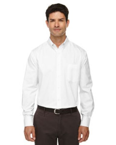 88193T Ash City - Core 365 Men's Tall Operate Long-Sleeve Twill Shirt WHITE 701