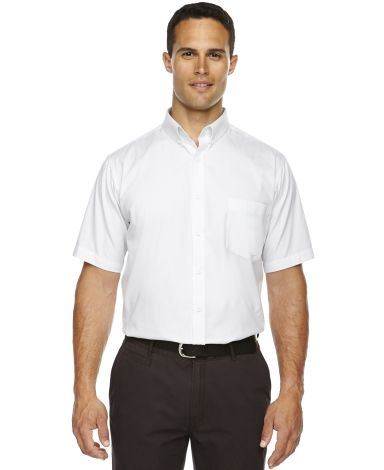 88194T Ash City - Core 365 Men's Tall Optimum Short-Sleeve Twill Shirt WHITE 701