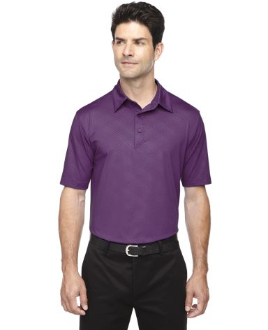 88659 Ash City - North End Sport Red Men's Maze Performance Stretch Embossed Print Polo MULBERRY PURPLE