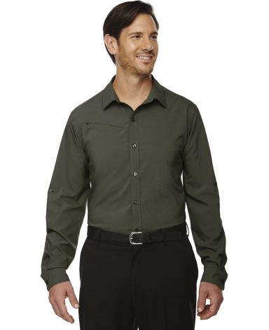 88804 Ash City - North End Sport Red Men's Rejuvenate Performance Shirt with Roll-Up Sleeves OAKMOSS 462