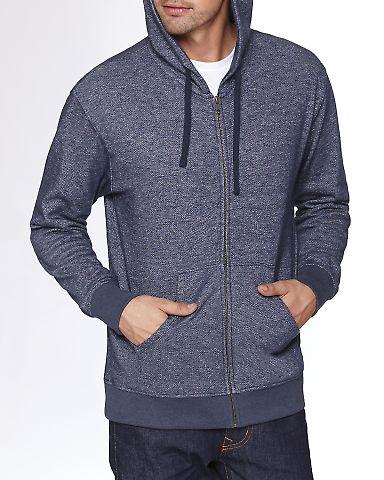 9600 Next Level Adult Denim Fleece Full-Zip Hoodie MIDNIGHT NAVY