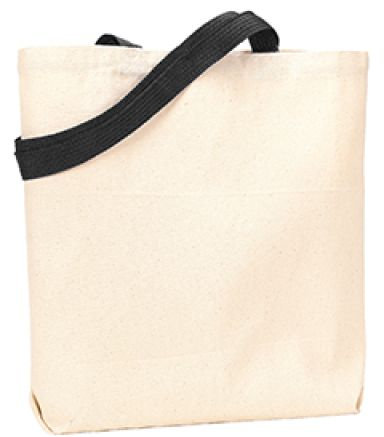 Liberty Bags 9868 Jennifer Cotton Canvas Tote NATURAL/ BLACK