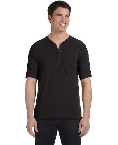 AA2055 Alternative Men's Short-sleeve Henley Black